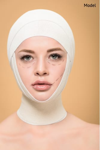 Scarring will develop after facial plastic surgery that will fade with time.